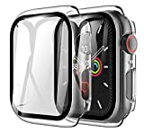 LK Compatibile con Apple Watch SE Series 6 44mm Pellicola Protettiva, 2 Pezzi,Vetro Temperato Cover Custodia, Model No.LK-X-103
