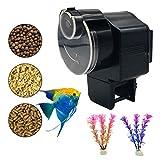 Bnzaq Automatic Fish Tank Feeder - Aquarium Auto Timer Food Dispenser for Vacation