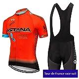 irugh Conjunto Ropa Equipacion Traje Ciclismo Hombre para Verano, Maillot Ciclismo Hombre+Culotte Ciclismo Culote Bicicleta