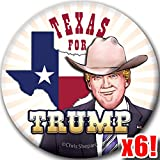 TEXAS FOR TRUMP! 6-Button Rally Pack! Lone Star State Badge! MAGA 2020 Pin!