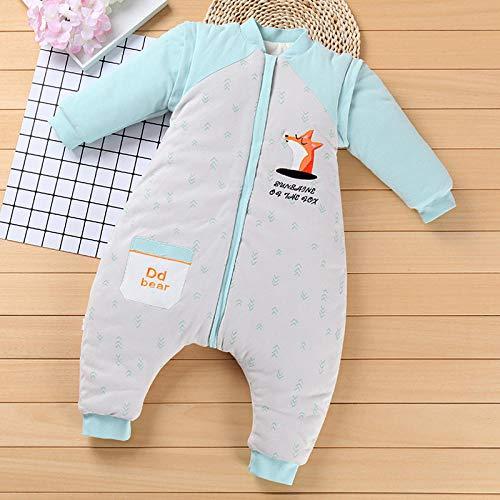 Wikkeldeken Universele baby, Slaapzak met afneembare mouw, Kruipende babypak - Blauwe print_90 yards, Slaapzak voor baby's Veilige nachten