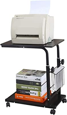 Amazon.com: Mesa de oficina con ruedas para impresora ...