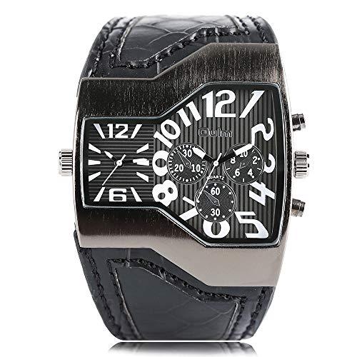 Uhren für Männer Frauen, Oulm Herren Uhren Top Marke Big Armbanduhr, Man Quarz Militär Sport Armbanduhr