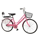 Complete Cruiser Bikes,Vintage Womens Bicycle,Carbon Steel Frame Beach Cruiser Bike with Retro Car