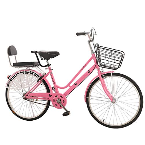 Buy Discount ZHEDYI 24in/26in Single Speed Womens Bike, Low-Span Design Bikes, High Carbon Steel Lig...