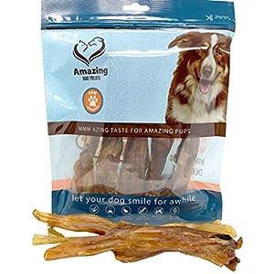 Amazing Dog Treats Wishbone Beef Tendon Dog Chews – 100 % Pure Beef Dog Treats – Beef Bones for Dogs – Tendon Dog Chews (Jumbo, 5 pcs/Pack)