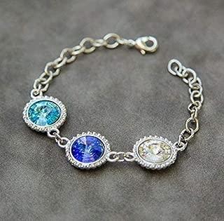 Personalized Mother's Bracelet, Grandma Grandmothers Jewelry with Birthstones
