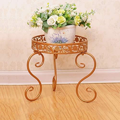 LRW Golden European Flower Rack, ijzeren kunst, balkon bloempot rek, ruimte binnen en buiten de groene lelie hangorchidee plank.
