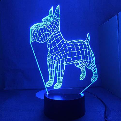 Standard Irish Terrier Dog Lights Farbwechselbare Tischlampen Neuheit Nachtlichter Light Drop Transport