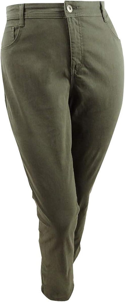 Style & Co. Womens Plus High Rise Tummy Control Slim Leg Jeans