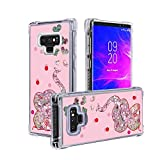 El Lumiere Air Art Milkyway Case for Samsung Galaxy Note 9 Flowing Liquid [Bling Glitter Starlight] Soft Flexible TPU [Cute Printed Back Cover] (Elephant-Pink)