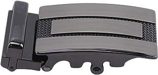 Yinew - Cintura da Uomo con Fibbia Automatica, Regolabile, con Fibbia in Metallo, Stile Casual