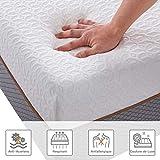 BedStory Matelas 90 x 190 x 18cm 7 Zones de Confort, Matelas Mousse 90x190cm avec Tissu Antiacarien Respirant et Hypoallergénique, Matelas Une Personnes avec Certification ISO 9001