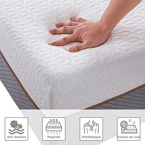 BedStory Matelas Mousse HR 140x190 7 Zones de Confort, Matelas Mousse avec Tissu Antiacarien Respirant et Hypoallergénique, Matelas 2 Personnes avec Certification ISO 9001-18CM