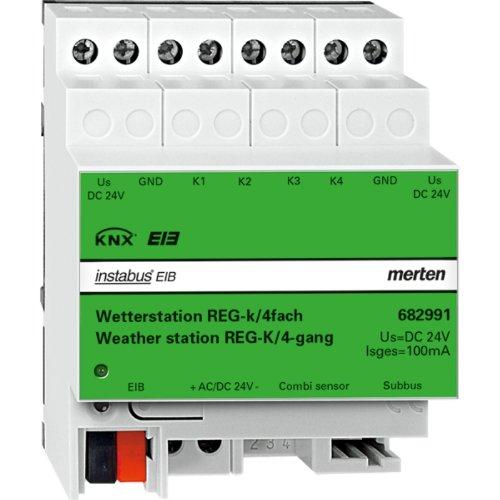 Merten 682991 Wetterstation REG-K/4fach, lichtgrau