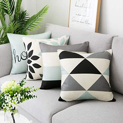 Best Aopota Throw Pillow Cases Decorative Soft Square Geometric Style Throw Pillow Cover Cushion Case for