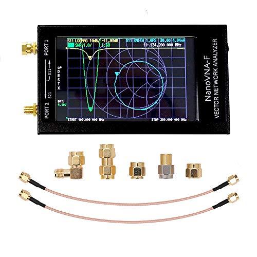 NanoVNA-F-Vektornetzwerkanalysator, Metallgehäuse-LCD-Digitalanzeige, die Kurzwelle MF HF VHF UHF-tragbarer Antennenanalysator Standing Wave 50KHz-1GHz des großen Bildschirms berührt(4,3 Zoll)…