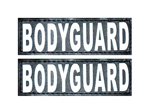 Doggie Stylz Set of 2 Reflective Body Guard Removable Patches for Service Dog Harnesses & Vests. (Large 6