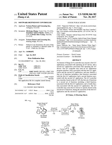 Software-defined IoT controller: United States Patent 9830166 (English Edition)