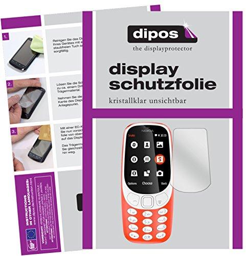 dipos I 2X Schutzfolie klar kompatibel mit Nokia 3310 Folie Displayschutzfolie