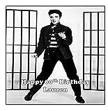 19 cm cuadrado Elvis papel de oblea personalizado para tartas