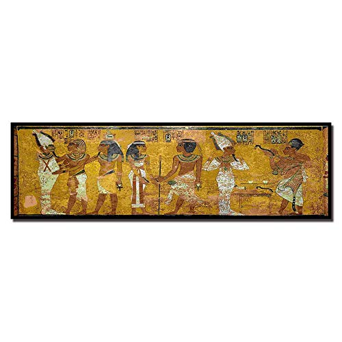CAPTIVATE HEART Lienzo de impresión 60x180cm sin Marco Retro Egipto Reina Cleopatra Cartel Antiguo Egipcio Imagen Mural habitación Pared Arte cabecera decoración del hogar