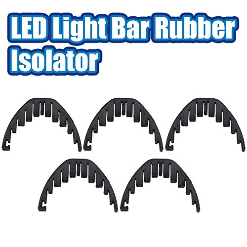 Racbox 50 52 inch Offroad LED Light Bar Silencers Resonance Damper Rubber Isolator Pack of 5