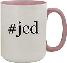 #jed - 15oz Hashtag Colored Inner & Handle Ceramic Coffee Mug, Pink