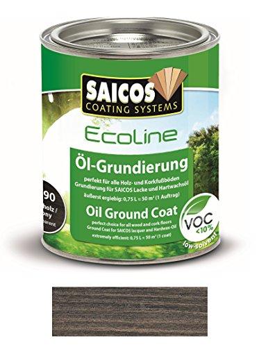 Preisvergleich Produktbild 0, 75L Saicos Ecoline DuoTop Öl-Grundierung Ebenholz Holzgrundierung