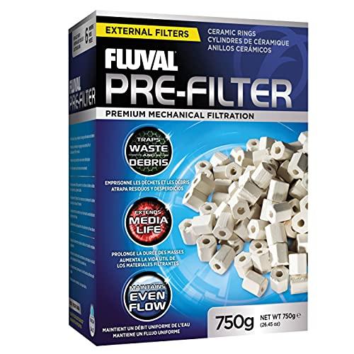 Fluval Pre-Filter Media, Mechanical Filter Media for Aquariums, Ceramic Rings, 26.45 oz., A1470