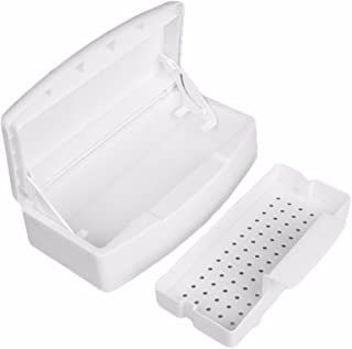 Amedve Alcohol Plastic Disinfection Nail Art Tool Clean Sterilizer Tray Storage Box Case Organizer
