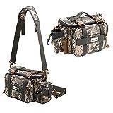 XBLACK Fishing Tackle Bags Portable Fishing Tackle Storage Bag Waterproof Lures Kit Waist Fishing Bag for Outdoor Fishing Hiking Camping Cycling (camo)