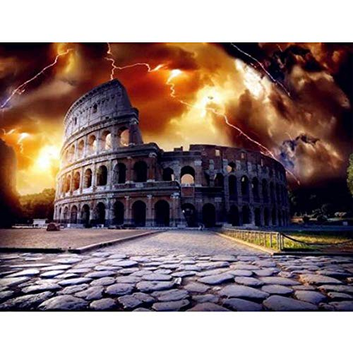Fanxp Colosseum - Puzzle de madera, diseño de puzle de descompresión de 1000 piezas