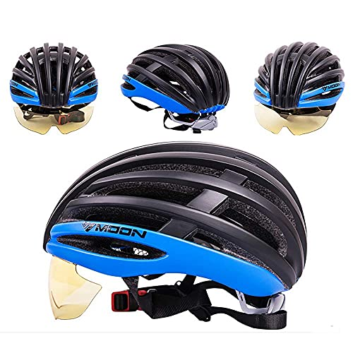 QTQZ Casco Ligero de Bicicleta de montaña, 23 ventilaciones Casco de Ciclismo Deportivo EPS Moldeado integralmente con Almohadilla de Forro Bicicleta de montaña Casco Ajustable Unisex