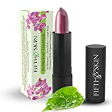 Botanical Lipstick (RHUBARB) - Natural Lipstick - Made w/ Organic Ingredients - Gluten Free - Cruelty Free - Lead Free - Paraben Free - Moisturizing Lip Color - COLOR: DARK BERRY MAUVE