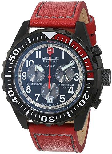 SWISS MILITARY-HANOWA Herren Analog Quarz Uhr mit Leder Armband 06-4304.13.007