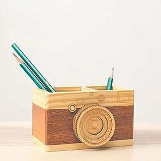 متعدد الأغراض استخدام لوازم المكتب المدرسية صندوق تخزين ماكياج منظم خشبي حامل القلم