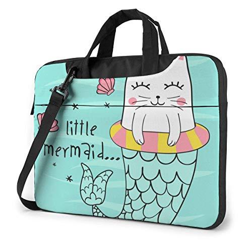 Ute Cat Mermaid Laptop Case Bolso portátil 15.6 Pulgadas