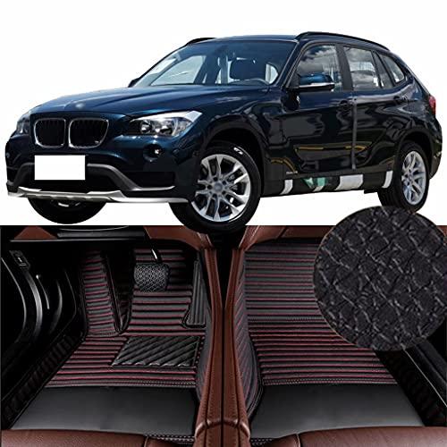 QCYP Alfombrillas para Coches Adecuado para BMW X1 sDrive18i (sin Sistema de Crucero) SUV de 5 Puertas y 5 plazas 2015 Alfombrillas para Todo Tipo de Clima Alfombras de Auto,LHD