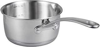 IMEEA (17oz/500ml) Heavy Duty 18/10 Tri-Ply Stainless Steel Butter Warmer Pan with Dual Pour Spouts, 0.5-Quart