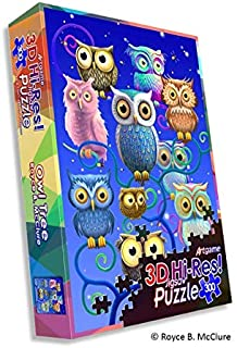 Owl Tree 3D Hi-Res 300 pc Puzzle