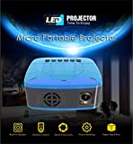 ACCADEMT Mini Beamer, LED-bewegliche Projektor-Taschen Pico Projektor großes Geschenk für Kinder, Heimkino für Out Door Video/Film/Spiel/Heimkino-Videoprojektor,UKSocket