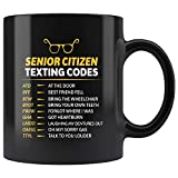 Taza té cerámica uso prolongado Códigos de mensajes de texto para personas mayores Grparents Senior Grpa Grma Taza bebida café Regalo