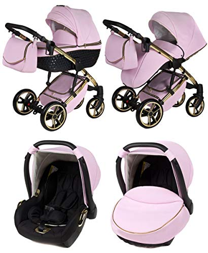 Kinderwagen 3 in1 Kombi Set Autositzwahl Buggy isofix Yukon GT by Chillykids Candy 01 3in1 mit Babyschale