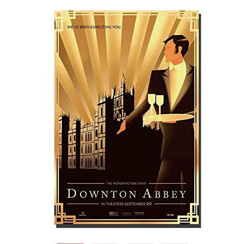Sanwooden Downton Abbey Film Film HD Bilder Poster und Drucke für Bar Wohnzimmer Home Decor Geschenk Artwork Dekoration Druck auf Leinwand -50x75cm Kein Rahmen