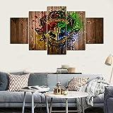 GTT& 5 Wandbilder, modernes Anime-Druck, Harry Potter Hogwarts Bilder Bild Gemälde Druck auf Leinwand, Wandkunst für Zuhause, B, 30×40×2+30×60×2+30×80cm×1