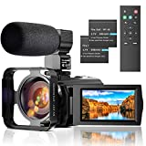 Video Camera Camcorder with Microphone, Full HD 1080P 24MP 30FPS FamBrow Digital...