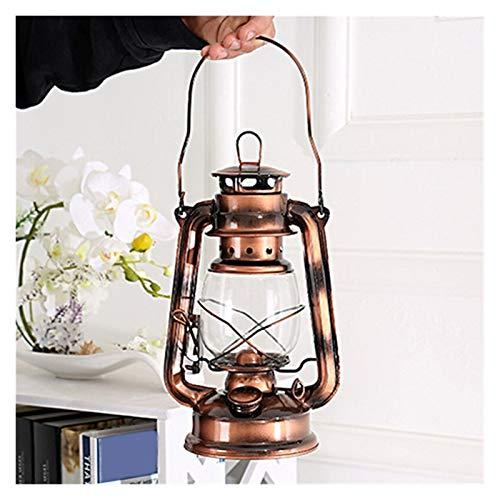 Luces al aire libre Estilo retro iluminación portátil de keroseno lámpara de metal de luz de camping acampan al aire libre luces de la tienda de la lámpara de la lámpara de emergencia del hogar para j