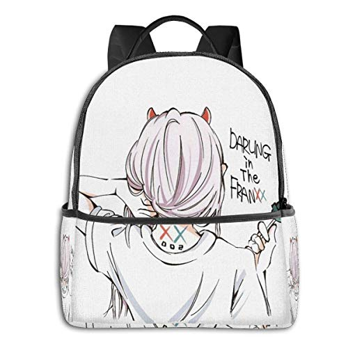 XCNGG Anime Darling in The Franxx Classic £¨1£ Student School Bag School Cycling Leisure Travel Camping Outdoor Backpack
