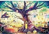 WQEFFTRW Nuevos Rompecabezas HD para Adultos 500 Piezas Temas de árboles Juegos de Rompecabezas para familiasRompecabezas de cartónJuegos educativosBrain Challenge Rompecabezas para niños